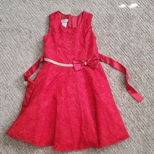 Bonnie Jean Red Holiday Dress Size 10